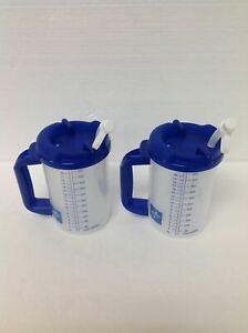 2x NEW MEDLINE WHIRLEY Double Wall Insulated Hospital Mug Cold Drink Mug - 20oz