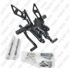 For Honda CBR600RR 2007-2014 CNC Adjustable Footpeg Rearset Footrest Pedal Black