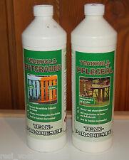 Teakholz Reiniger + Teakholzöl Pflegeöl je 1000ml Hochwertig  für Gartenmöbel