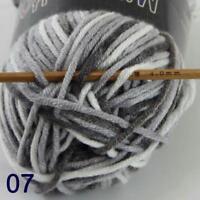 AIP Soft Baby Cotton Yarn New Hand dyed Wool Socks Scarf Knitting 1Skeinx50gr 07