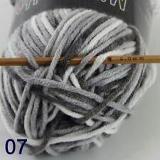 AIP Soft Baby Cotton Yarn New Hand dyed Wool Socks Scarf Knitting 1Skeinx50gr 07