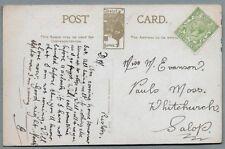 1910's era Postcard sent to Miss M. Evanson, Paul's Moss, Whitchurch, Salop