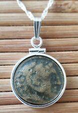 Alexander The Great Portrait  Ancient Greek Coin Pendant 925 Silver Necklace