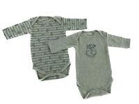 Baby Bio Baumwolle Body Pyjama Strampler Kleinkind 0 - 24 Monate 2er Set Affe