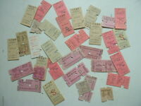 COLLECTION OF 34 VINTAGE RAIL TICKETS MAIDSTONE EAST to EAST MALLING, KENT