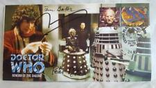 DR/DOCTOR WHO - THE GENESIS OF THE DALEKS - AUTOGRAPHED COMMERATIVE STAMP COVER