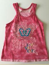 Arizona 6 years girl, Vest top Pink Butterfly, embroidered, layering,