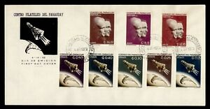 DR WHO 1962 PARAGUAY FDC SPACE CACHET COMBO  g21840