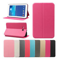 Magnetic Closure Leather Case Stand Cover For Samsung Galaxy Tab Tablet SM-T110