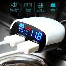 3.4A USB Rapid Car Charger Lighter Socket Adapter Charger with LED Display OEM