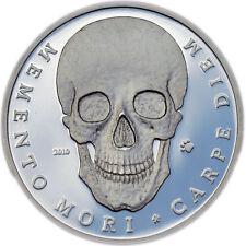 SILVER SKULL COIN  – MEMENTO MORI -  PALAU - LAST ONE coin