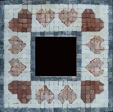 Mosaic mirror kit, heart design, with natural stone tiles - Martin Cheek Design