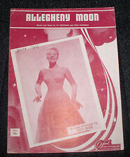 1956 SHEET MUSIC ALLEGHENY MOON RECORDED BY PATTI PAGE