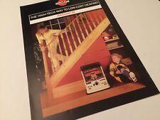 KSM Kerosun Radiant 26 Heater Original 1980s Vintage Sales Brochure Folder