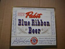 New listing Pabst Blue Ribbon Irtp Dncmt3.2% 32 Oz. Beer Label~Pabst,Milwaukee,Wis #6
