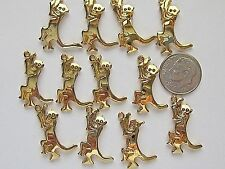 12 VTG ULTRA CRAFT MONKEY CHARMS PENDANTS DANGLES 24x18mm JEWELRY FINDINGS NOS