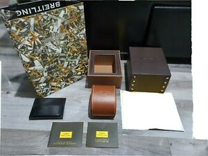Breitling Watch Box Brown Leather Rare Edition Good Condition (FAST DELIVERY)