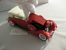 FM 1934 PACKARD CONVERTIBLE SEDAN 1:24 SCALE CAR MODEL (Red)