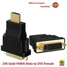 DVI-D 24+1 Pin Female to HDMI Male M-F Adapter Converter for HDTV LCD Monitor US