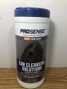 ProSense Dog Eye 50 Wipes Plus Aloe Vera Tear Stain Solutions for Everyday Use
