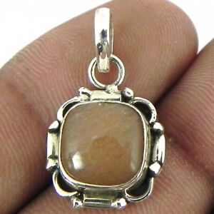"""925 Sterling Silver Moonstone Handmade Necklace 18"""" Chain Festive Women PS-1709"""