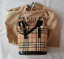Women Authentic Burberry London made in Italy NOVA Check Tote Bag