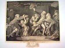 XIX e - GRAVURE d'aprés J.B. GREUZE - 1789 - LE FILS INGRAT AVRIL SCULPSIT
