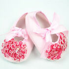 Cute Princess Non-Slip Newborn Baby Girls Toddler kids Lace Flower Shoes Pink