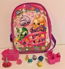 """Shopkins 8"""" Mini Preschool Backpack With Figures Toys Shopping Bags Kids Gift"""
