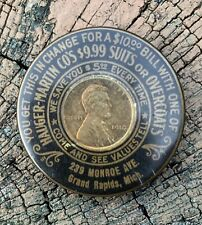 1910 Grand Rapids Michigan Encased Cent with Mirror, Hauger Martin Suits
