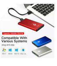 Disco duro externo de 2,5 '' Azul 2 TB disco duro USB 3,0 externo HDD HD