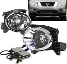 Driving Fog Lights Lamp Kit Chrome W/10K Hid+Switch Set For 2013-2016 Pathfinder