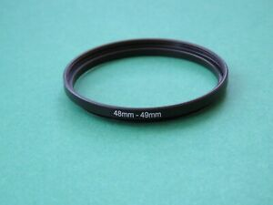 48mm-49mm 48-49 Stepping Step Up Male-Female Filter Ring Adapter 48mm-49mm