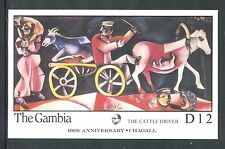 Gambia  MNH 100th Ann of the Birth Marc Chagall Paintings, Art 1986. x19599