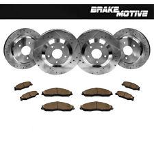 Front+Rear Drill Slot Brake Rotors & Ceramic Pads For 97 - 04 Chevy Corvette C5