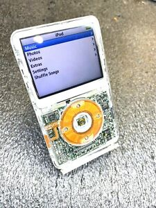 80GB iPod Video Classic 5th Generation Clear Front Great Condition