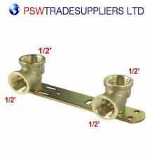 Concealed Shower Fitting Wall Plate Thermostatic Tap Mixer Bar Valve Bracket BSP