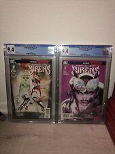 Gotham City Sirens 1 and 2 CGC 9.4 DC comics batman Joker Harley Quinn Catwoman