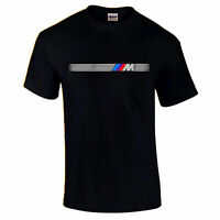 BMW M POWER DOOR PLATE MOTORSPORT PH321 UNISEX BLACK T-SHIRT