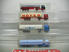 AI642-1# 4x Wiking H0 Tankzug/LKW Mercedes-Benz MB: Hoyer+Hoechst+Schmidt etc