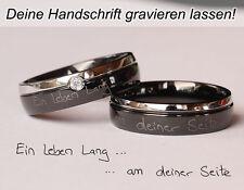 Handschrift-Gravur! Trauringe Eheringe Edelstahlringe Ihre Wunschgravur 151HDpe