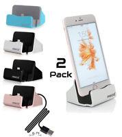 2 Pack Phone Desktop Charging Docking Station Dock Stand Cradle for Apple iPhone