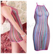 Sexy women Lace Lingerie Fishnet Colorful Mini Dress Babydoll Babydoll Nightwear