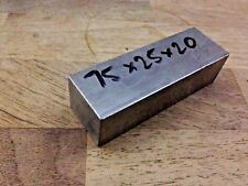 75 x 25x 20 mm grado 5 TITANIO Billet 6AL4V Square BAR BLOCCO STOCK piastra in bianco