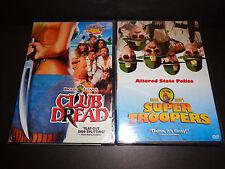 CLUB DREAD & SUPER TROOPERS-2 DVDs-Machete-wielding maniac threatens sexy resort