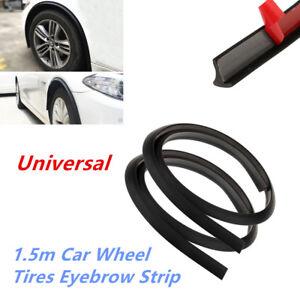 2Pcs Black Rubber Pad Car Fender Wheel Eyebrow Moulding Lip Trim Protector Strip