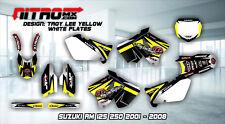 SUZUKI Graphics Kit Decals Design Stickers RM 125 250 2001 - 2008 Motocross MX