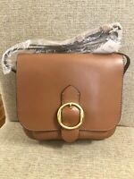 New with Tags Banana Republic Italian Leather Womens Saddle Bag -Brown MSRP $148
