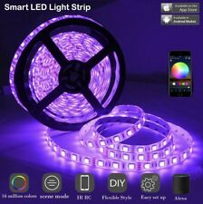 LED Light Strip Lights Water Resistant 16.5FT RGB Strip, Christmas Festival Rope