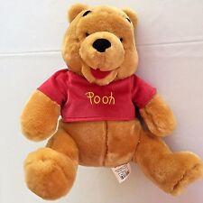 Winnie The Pooh Bear Plush Stuffed Toy Animal Disney Store 11.5 Inch Sitting